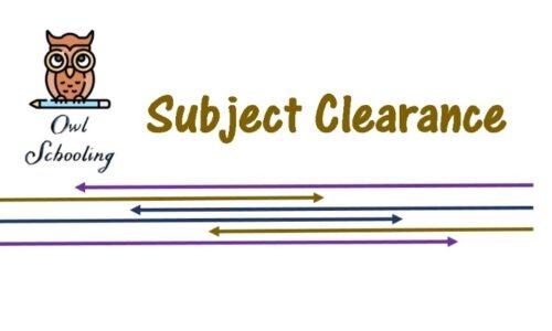 Subject Clearance